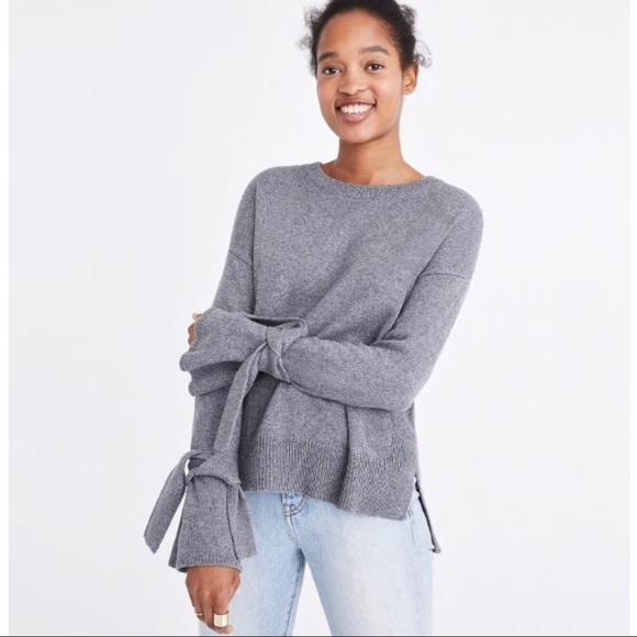 Womens Madewell Cuff tie crewneck sweater Small 0ac6fbb86
